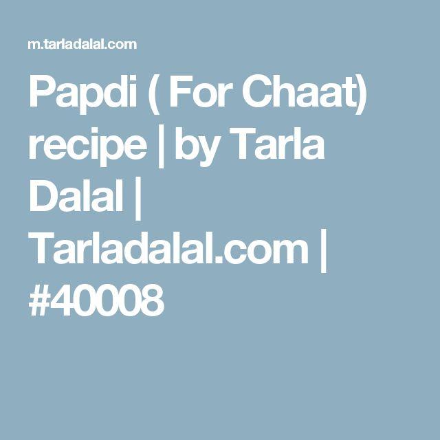 Papdi ( For Chaat) recipe | by Tarla Dalal | Tarladalal.com | #40008