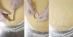 Massa de Biscoito para Decorar 300g de farinha de trigo 150g de açúcar refinado 150g de manteiga sem sal 1 ovo + 1 gema Raspas de limão (casca) 1 pitada de sal 1 colher (chá) de fermento em pó (opcional para deixar os biscoitos mais fofinhos) MODO DE PREPARO: Em uma vasilha coloque a farinha, …