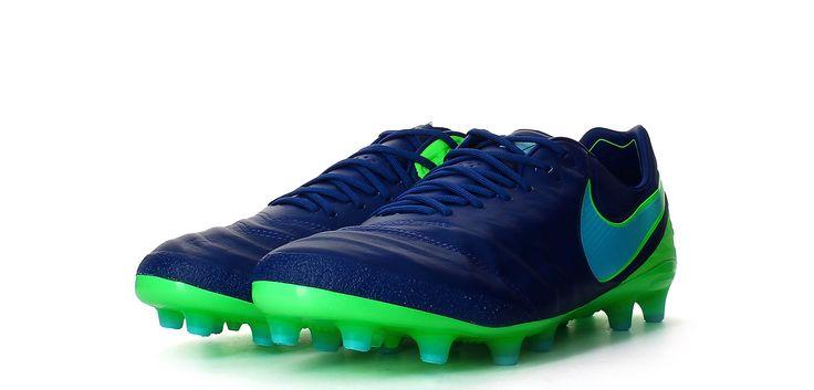 Botas de fútbol Nike Tiempo Legend VI AG-PRO - Azul Coastal / Verde Rage - Perspectiva conjunta