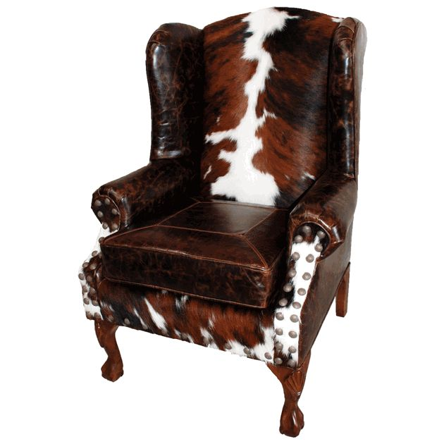 Chairs And More: Santa Fe Wing Back Chair In Brazilian Cowhide And Buffalo