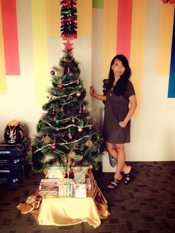 Grey heavy mini dress for Christmas