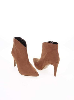 OJJU - Hnědé boty na podpatku - 1