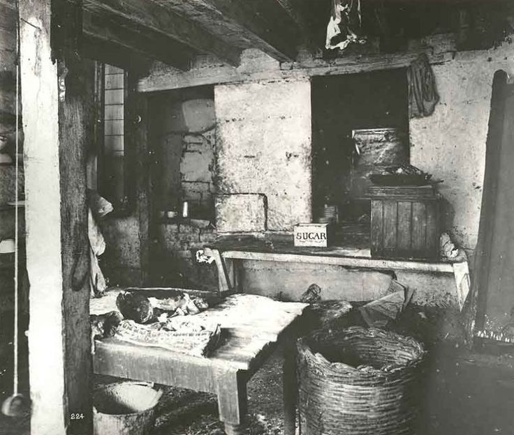 A poor family's kitchen, George Street, Sydney, 1900. Typical of most homes of the poor. Where it stood, Central Station now stands.