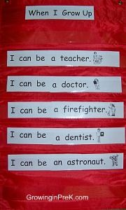 Another great idea for predictable chart- can use student's name- one each day. i.e. Debra can be a ...