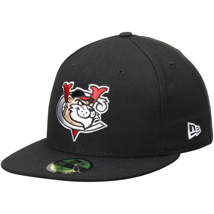 Tri-City ValleyCats New Era Authentic Road 59FIFTY Fitted Hat - Black - $21.84