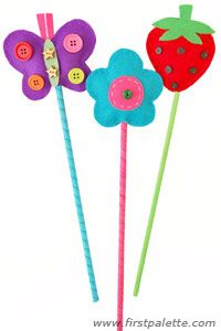 Pencil toppers - we could do themes so for christmas make santa hat ones:D