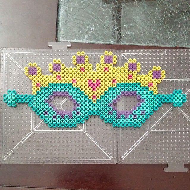 Crown mask perler beads by theycallmeseanna