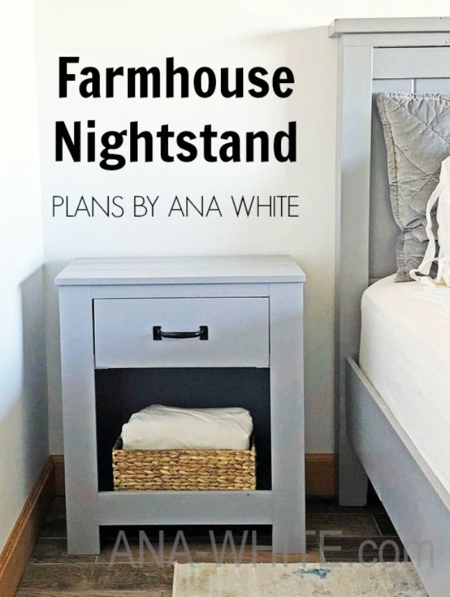 Cabinet Style Farmhouse Nightstand With Drawer Farmhouse Nightstand Farmhouse Bedroom Furniture Bedside Table Plans
