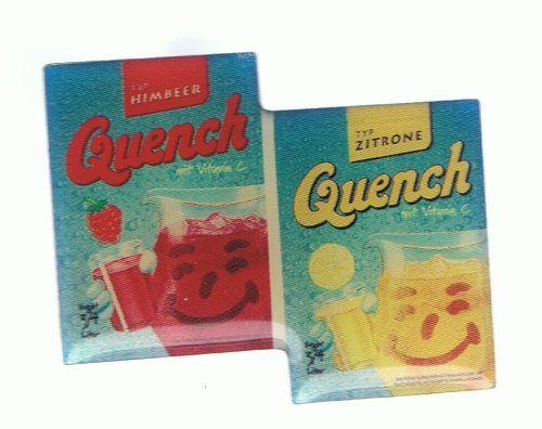 Quench Getränkepulver, Klassenfahrt nach Malente 1986.... Einen 10 Liter-Eimer voll unter der Dusche aufgefüllt....