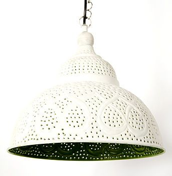 Lemonlu Indian Painted Lamp | Lime Green