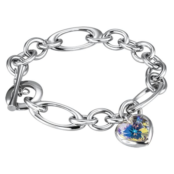 Stainless Steel Oval Link Bracelet with faceted Crystal Heart http://lily316.com.au/shop/bracelets-ladies-stainless-steel/stainless-steel-oval-link-bracelet-with-crystal-heart/