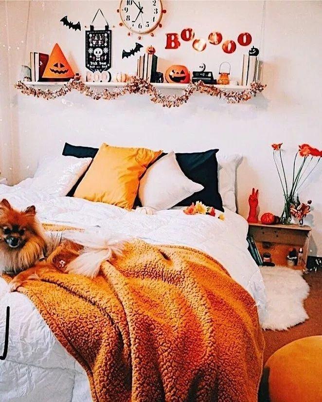 42 Cozy Halloween Bedroom Decorating Ideas Fall bedroom