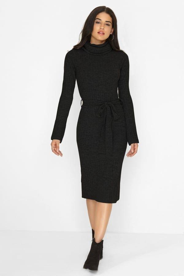 4dab97cac93f Girls on Film Black Knitted Dress Black