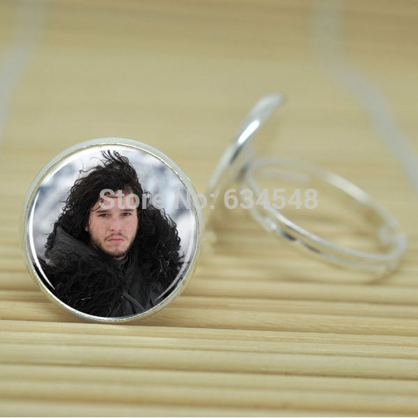 1pcs Game of Thrones House of Stark Jon Snow Earring Winter Is Coming jewelry glass Cabochon Adjustable Rings D3015  //Price: $US $2.97 & FREE Shipping //     #gameofthrones #gameofthronestour #gameofthronesfamily  #starks