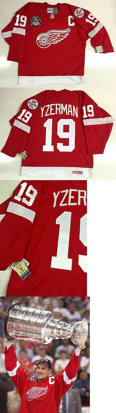 Hockey-NHL 24510: Steve Yzerman 1998 Stanley Cup Ccm Vintage Red Detroit Red Wings Jersey New -> BUY IT NOW ONLY: $159.99 on eBay!