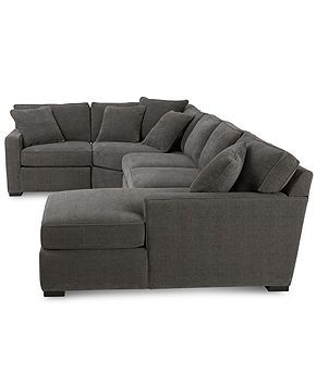radley fabric modular sectional sofa 4piece end unit armless apt