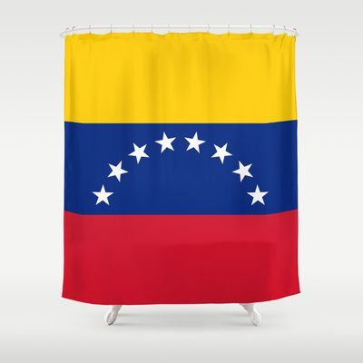 The national flag of the Bolivarian Republic of Venezuela -  Authentic version Shower Curtain by Bruce Stanfield - $68.00