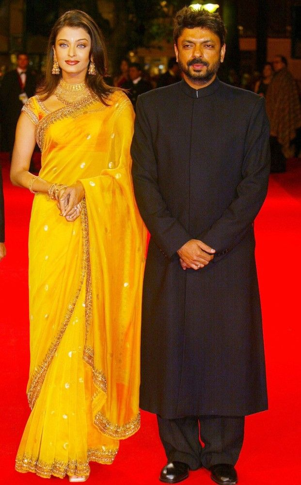 Aishwarya Rai and Sanjay Leela Bhansali, Devdas premiere @ Cannes Film Festival 2002