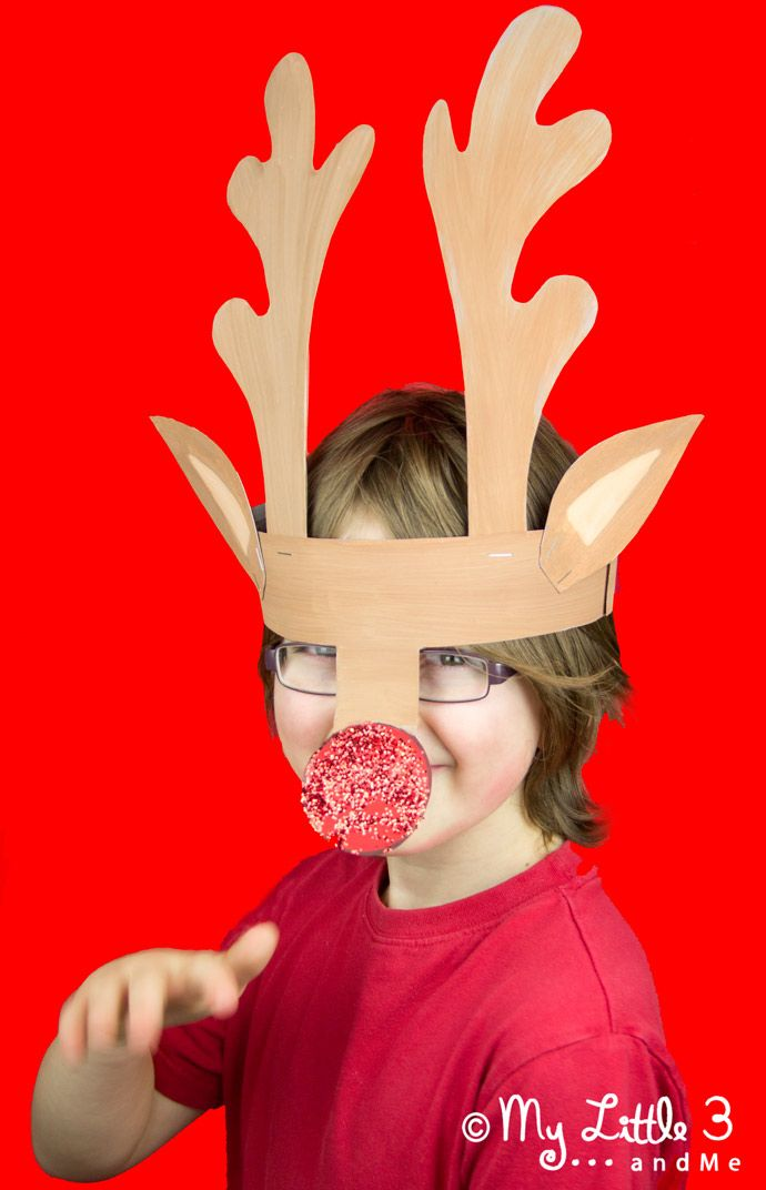 Printable Reindeer Antlers to Colour and Wear. - My Little 3 and Me
