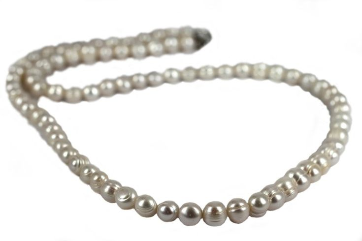 """Sautoir en perles baroques""-Sautoir en perles blanches"