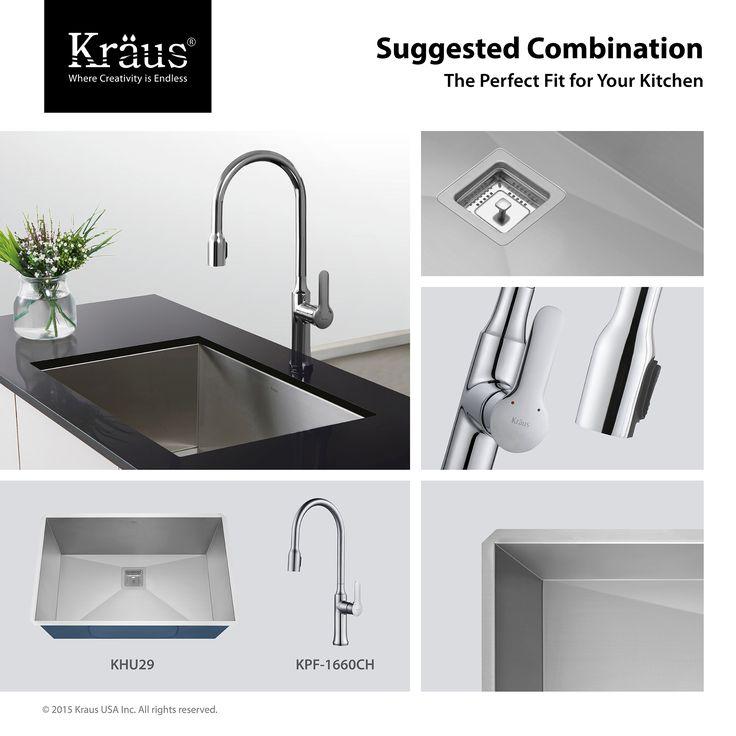 found it at wayfair pax x zero radius 16 gauge handmade undermount single bowl stainless steel kitchen sink - Kraus Sinks