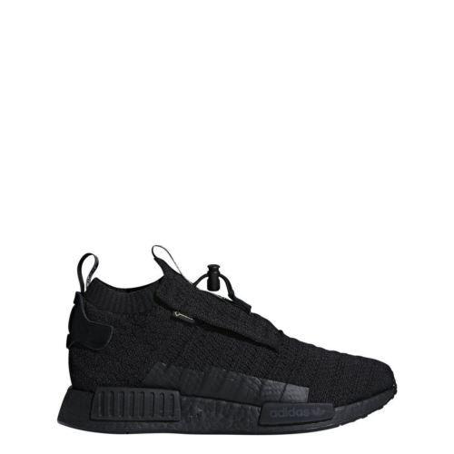 9258cc1fb4399 AQ0927-Mens-Adidas-NMD-TS1-PK-GTX-Primeknit-Gore-Tex-Running-Sneaker-Black
