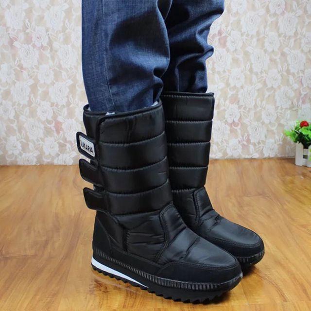2016 Winter boots men warm shoes platform snow boots men boots thick waterproof slip-resistant winter shoes 05