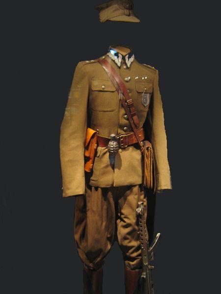 uniform of Polish anticommunust partisan lieutenant Edward Taraszkiewicz photo by User:Mathiasrex Maciej Szczepańczyk