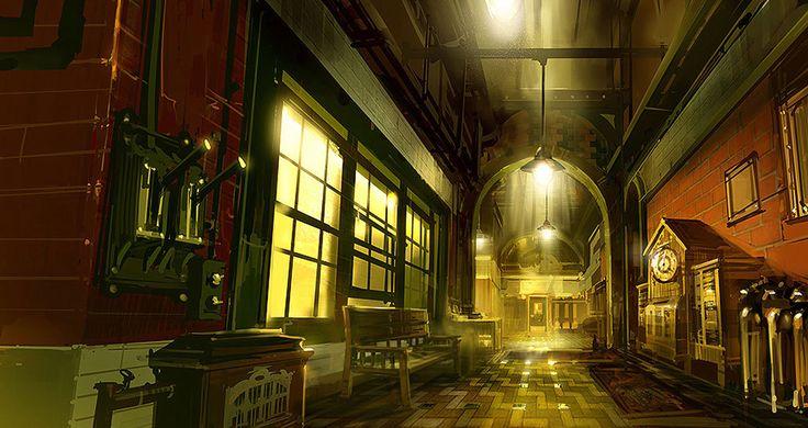 Bioshock Infinite - Finkton Factory Foreman Hallway, Ben Lo on ArtStation at https://www.artstation.com/artwork/5ZwJ