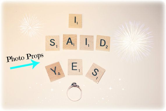 Engagement Photo Props She Said Yes She by HidingPlaceBoutique