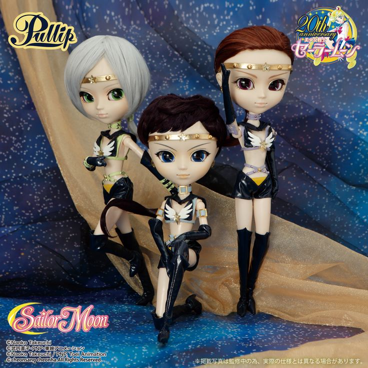 Official Sailor Moon Sailor Starlights Pullip Dolls! Information, images, and shopping links here!