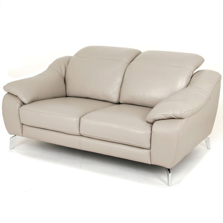 Sectional Sofas Orlando Loveseat Light Grey Leather