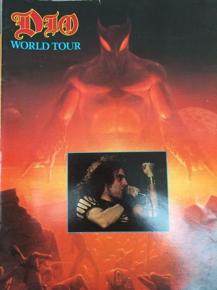 Dio, The Last in Line Tour Programme Inc ticket stub 1984