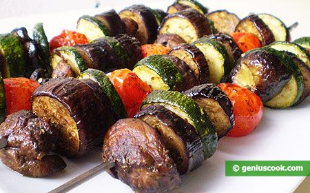 How to Make Grilled Vegetables on Skewers | Dietary Cookery | Genius cook - Healthy Nutrition, Tasty Food, Simple Recipes