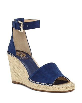 Shop for VINCE CAMUTO Women s Leera Suede Espadrille Wedge Sandals with FREE  Shipping   FREE Returns. Pick Up in Store Available. d3be6ec3ee15