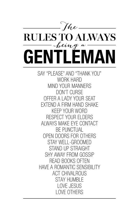 What makes a man a gentleman