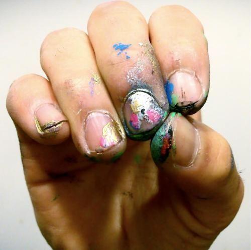 my kinda manicure: Nails Art, Manicures Ives, Art Teacher, Artists Hands, Artsy Fartsi, Artists Manicures, Nails Polish, Kinda Manicures, Fingers Nails