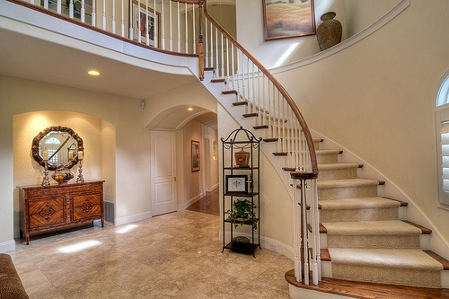 I love staircases like this!