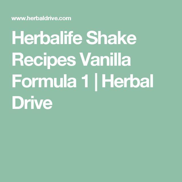 Herbalife Shake Recipes Vanilla Formula 1 | Herbal Drive