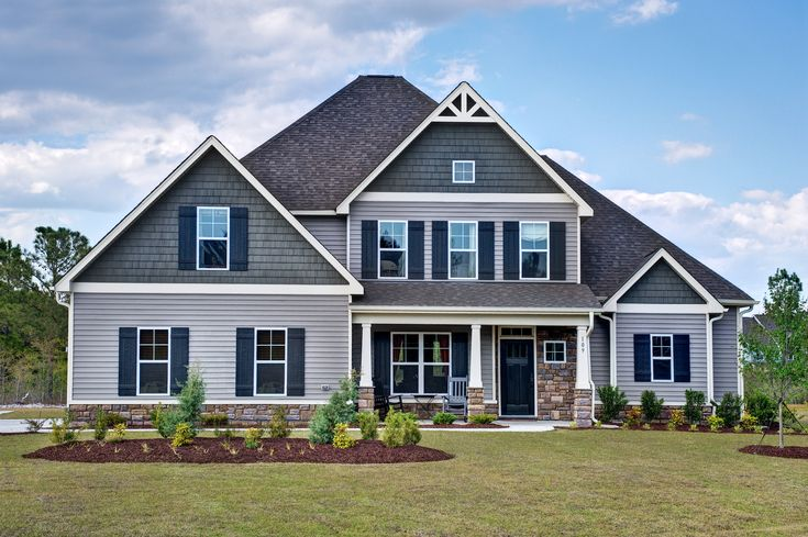 Stratton c exterior craftsman style home cool colors for Cool house exteriors