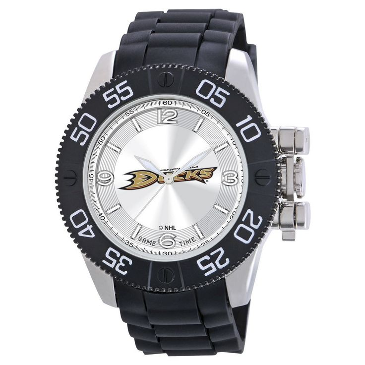 Men's NHL Game Time Anaheim Ducks Pearl Series Watch - Black