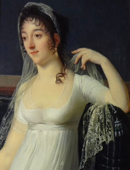 Possible Desirée portrait by Robert Lefévre (Art Gallery of South Australia - Adelaide, South Australia Australia) | Grand Ladies | gogm