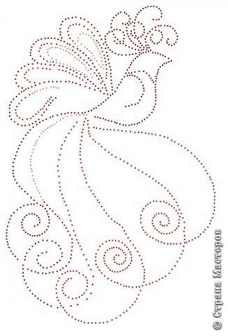 Fairy tale about quilling good pattern idea for dot only design