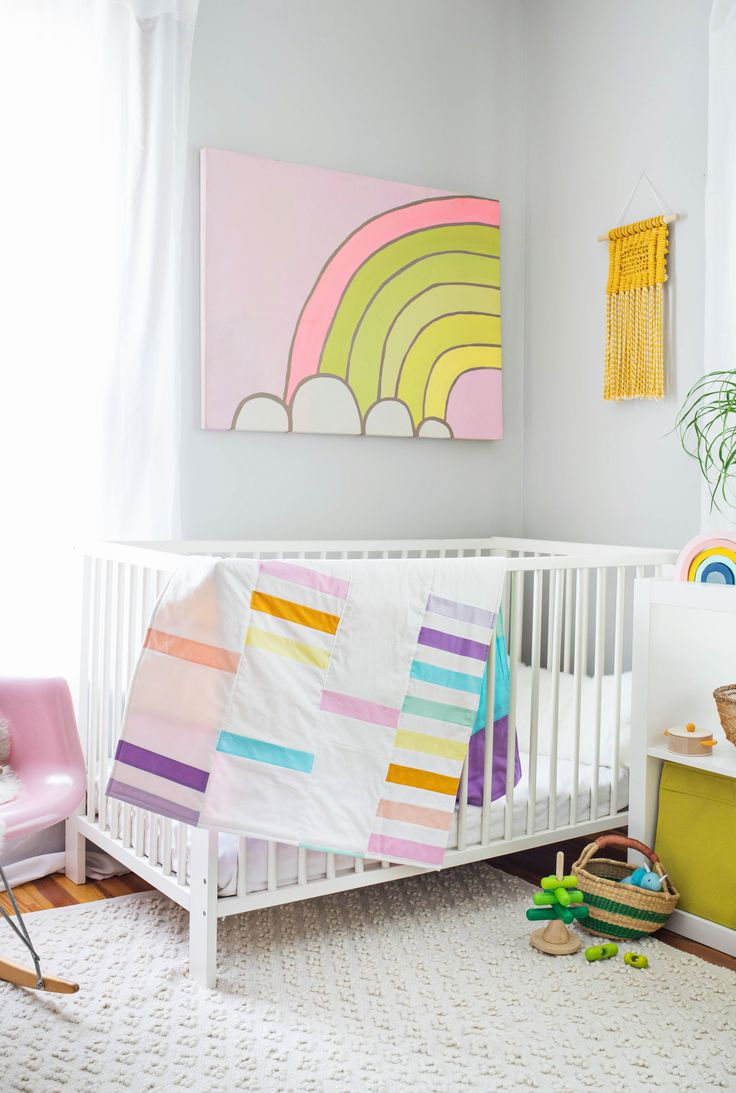 Modern Pastel Crib Quilt DIY – A Beautiful Mess
