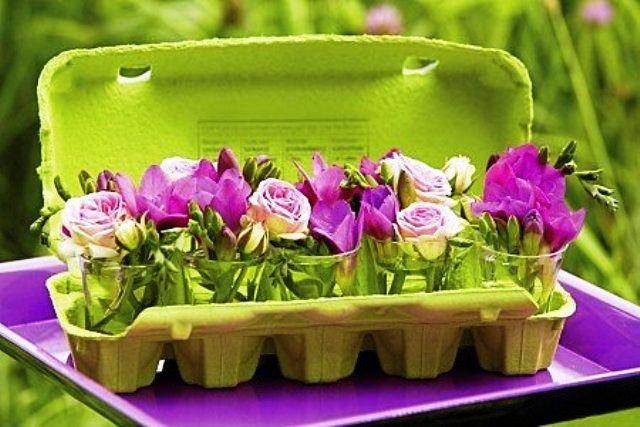 Rosely Pignataro: Reciclando caixas de ovos