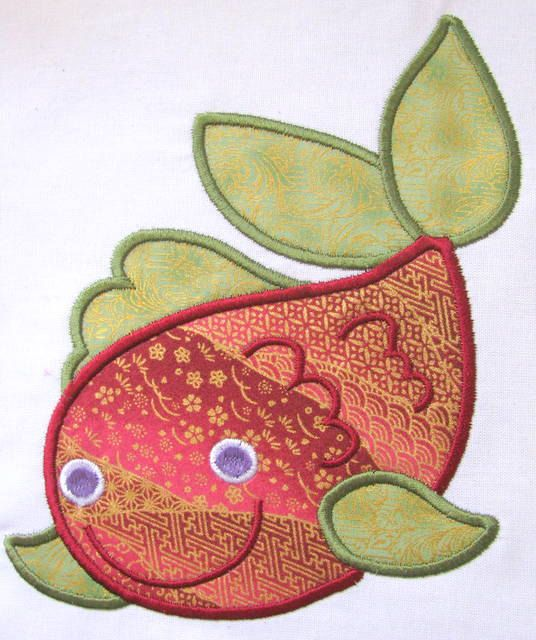 Mystical Fish 01 Machine Applique Embroidery Design  by KCDezigns, $3.50
