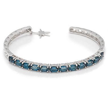 Eva LaRue Sterling Silver Rhodium Plate London Blue Topaz Cuff, I want it!