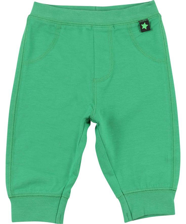 Molo zacht baby broekje in zacht groen #emilea