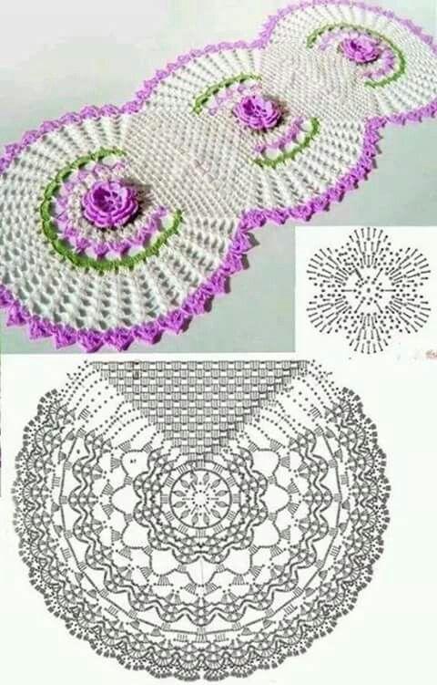 17 best crochet flores images on Pinterest   Crocheted flowers ...