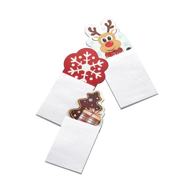 Karácsonyi hűtőmágnes jegyzettömbbel - Rénszarvasos